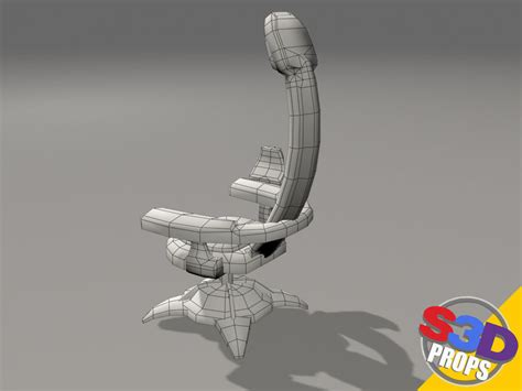 sci fi couch scifi chair2 3d model obj cgtrader com