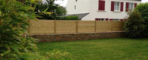 cloture bois 106 pose de cl 244 tures cr 233 ation de jardins 224 melgven dans le