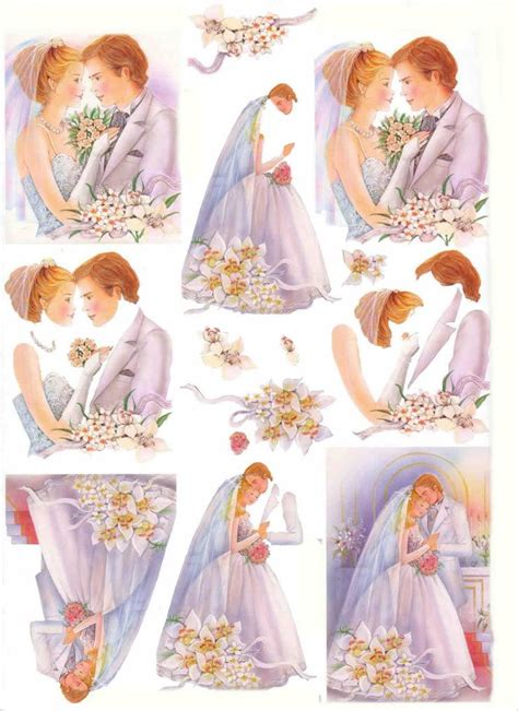 Wedding Decoupage Sheets - 840 best images about 3d kortit on disney