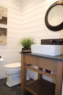 Shiplap farmhouse bathroom image ideas boise artwork black counter