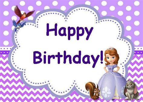 Sofia The First Birthday Party Card Set Instant Download Sofia The Birthday Card Template