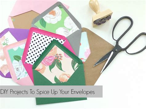 how to make your own envelope liners celebrations blog diy wednesday spicing up your wedding envelopes bajan wed
