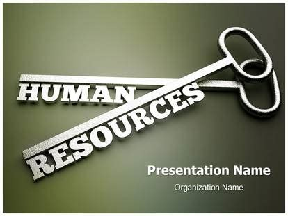 Human Resource Management Key Powerpoint Template Background Subscriptiontemplates Com Human Resources Powerpoint Template