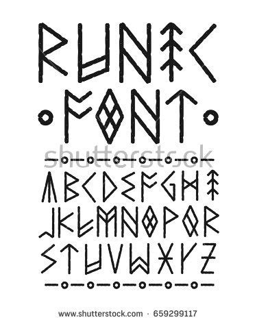 tattoo fonts norse runic stock images royalty free images vectors