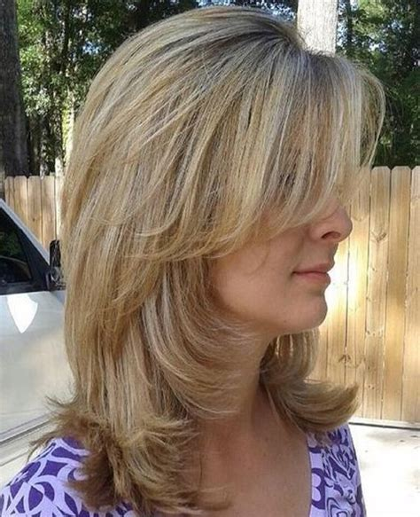 layered blunt hairstyle long layered hairstyles 2016 with blunt bangs medium