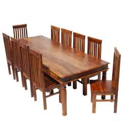 Rustic lincoln study large dining room table amp chair set for 10 people