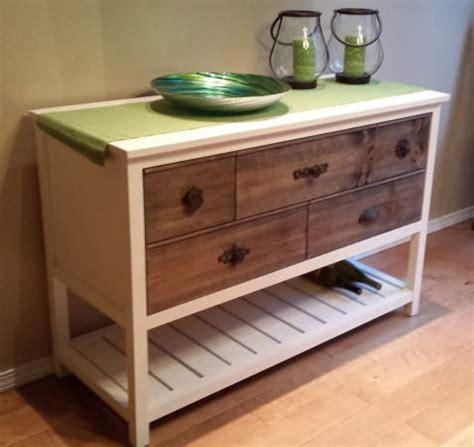 white dresser with open shelves reclaimed wood sideboard wood slat shelves white