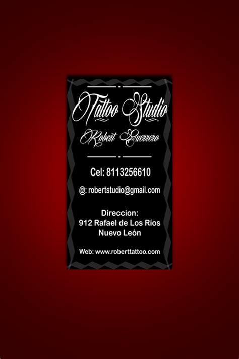 descarga gratis tarjeta de presentacion tattoo by