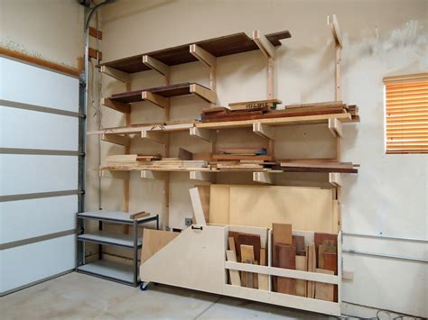 Garage Lumber Storage Ideas Lumber Storage Rack Dust Collection Lumber Rack And