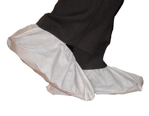 polycoated non skid vinyl sole disposable shoe covers by