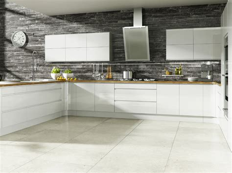 Kitchen No Cabinets by Gloss Handle Less Kitchen Pictures Pictures