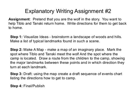 Writing An Explanatory Essay by Explanatory Writing Assignment 2