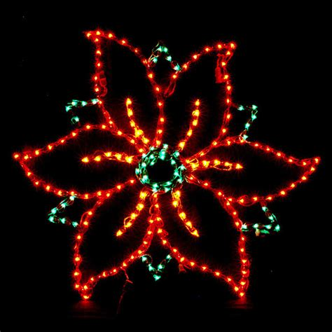 how to make a christmas yard poinsettia lighted lighted poinsettia outdoor display traditional decorations by frontgate