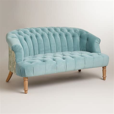 world market settee cloud blue abigail loveseat world market