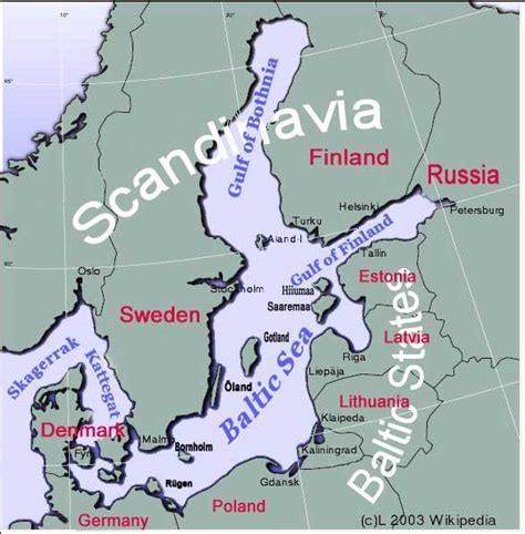 baltic sea map countries
