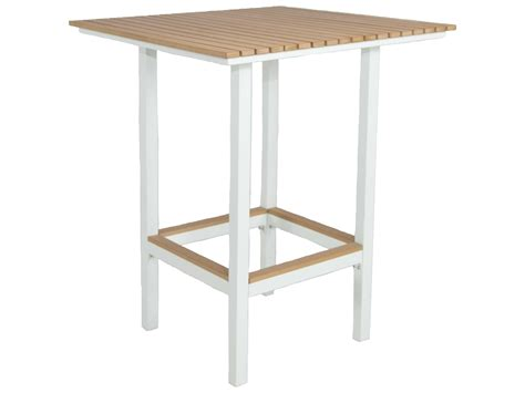 Patio Heaven Riviera Aluminum 32 Square Bar Table Square Patio Bar Table