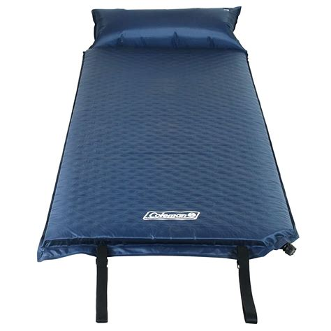 inflating camp pad pillow sleeping bed mat hiking bed