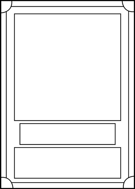 Trading Card Template Front By Blackcarrot1129 On Deviantart Trading Card Design Template