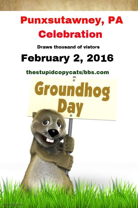 groundhog day events groundhog day punxsutawney event template postermywall