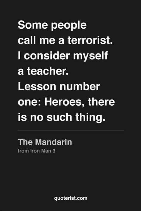 iron man  mandarin quotes quotesgram