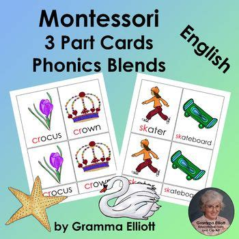 Montessori 3 Part Cards Template by 56 Best Montessori Inspired Phonics All Free Images On
