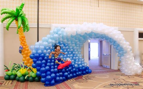 Aloha Decorations by Aloha Mitzvah A Luau In Balloons