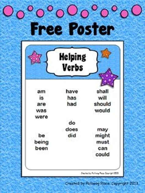 printable verb poster helping verbsposterthis is a printable poster that