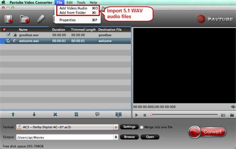 audio format without quality loss convert 5 1 wav to 5 1 ac3 without quality loss