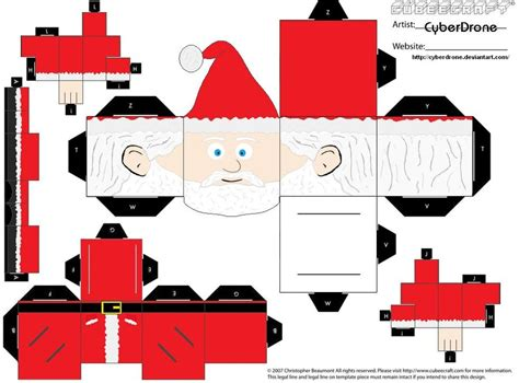 Papercraft Santa - cubee santa claus by cyberdrone on deviantart
