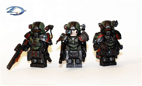 Custom Squad 4 lego halo 4 warrior squad here is the squad of 3 halo