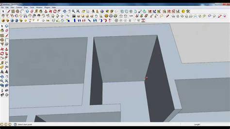 google sketchup modeling tutorial google sketchup tutorial part 02 base modeling door