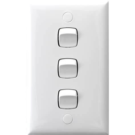 Three Light Switches by Hpm 3 Light Switch White Bunnings Warehouse