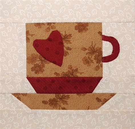 Coffee Quilt Pattern by Coffee Cup Quilt Block Mug Rugs