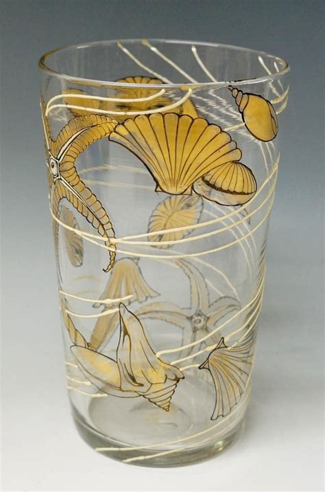 Circular Vase by A Delvaux Clear Glass Spreading Circular Vase Decora