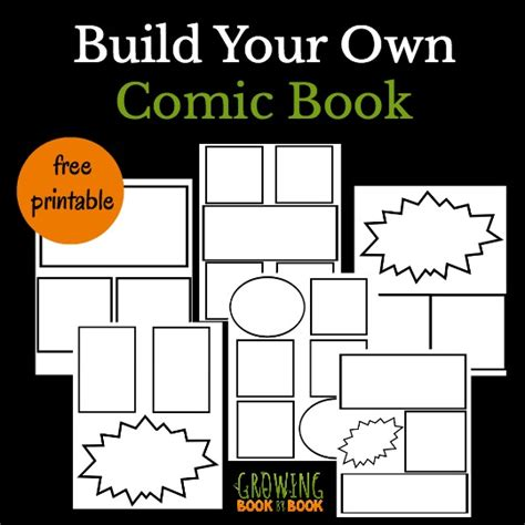 cool comic book templates for kids