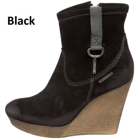 diesel jessy womens shoes ankle wedge heel boots on