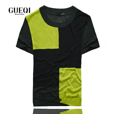 t shirt block pattern 2013 male urban casual graphic color block geometric