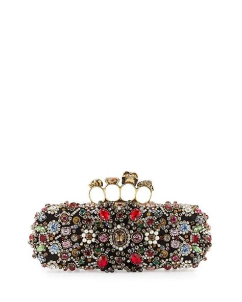 Ralph Jeweled Clutch by Mcqueen Jeweled Knuckle Box Clutch Bag Lyst