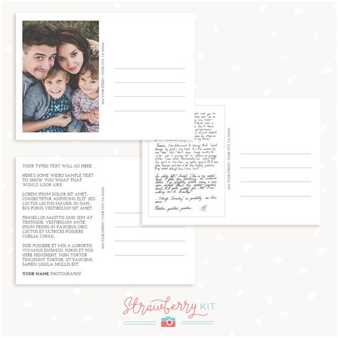 back of postcard template photoshop postcard back photoshop template strawberry kit
