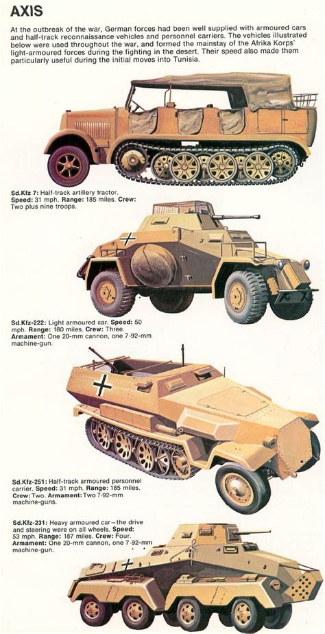 ww2 military vehicles dak fighting vehicles north africa in ww2 pinterest