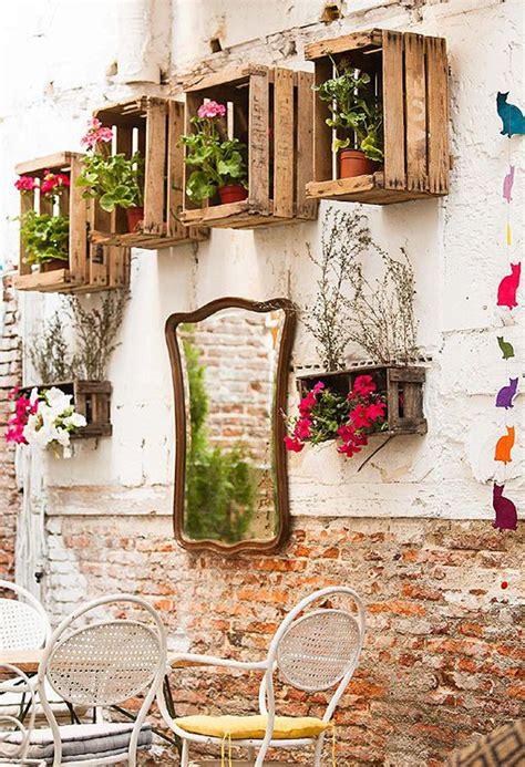 decorar jardines pequeños con plantas muebles de cocinas con melamina