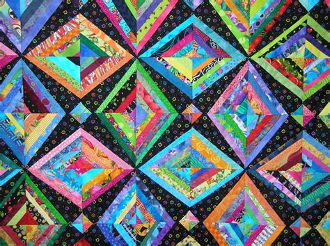 String Quilts by Quilts By Bright Scrappy String Quilt