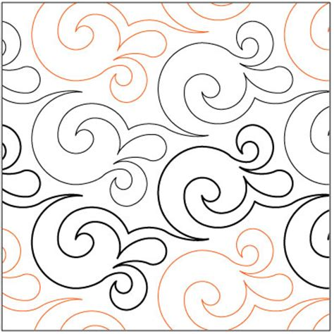 Pantograph Quilt Patterns by Effervescence Quilting Pantograph Pattern By Lorien Quilting