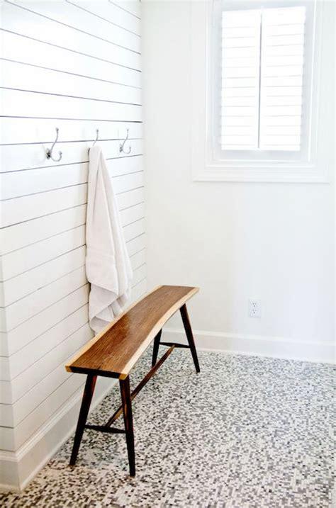 beach chic design laundrymud rooms bench bathroom bench mid century modern mid century modern bench mosaic tiles mosaic tile floor