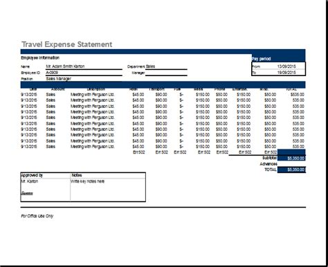 sample expense report sample 8 free documents in pdf word