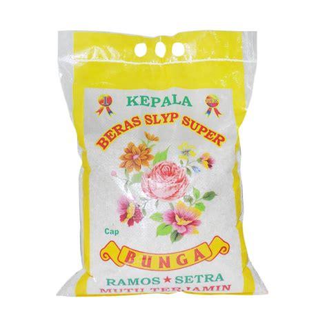 Beras Ngawiti 5kg Setra Ramos cap bunga beras setra ramos 5 kg elevenia