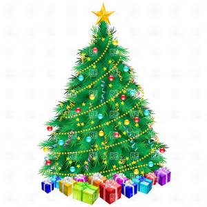 Christmas tree and gifts holiday download royalty free vector clip