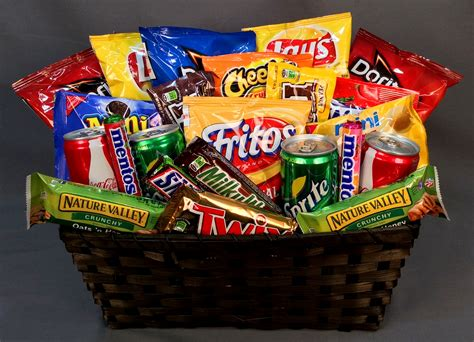 snacks for gifts image gallery snack basket