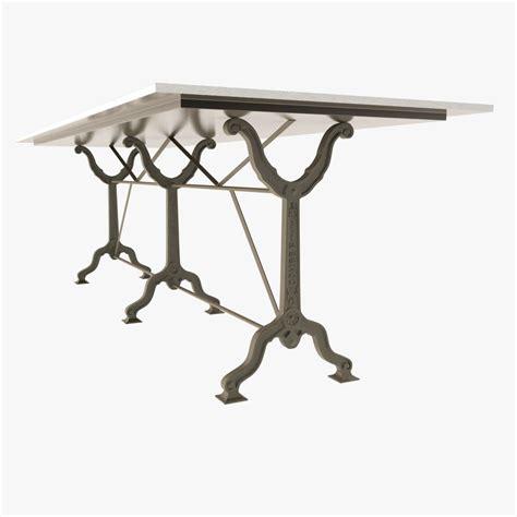 restoration hardware zinc table restoration hardware factory zinc cast i 3d model max