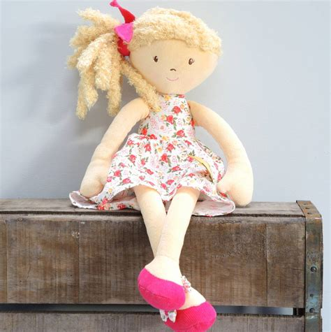 rag doll not on the high baby s personalised florence rag doll by the alphabet gift